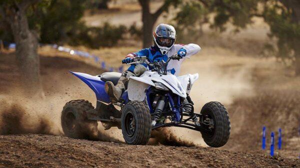 2016 Yamaha YFZ450R EU Racing Blue Action 001